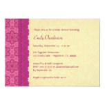 Pink and Gold Floral and Lace Bridal Shower V03C Personalized Announcements