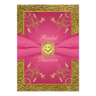 Pink and Gold Floral Bridal Shower Invitation