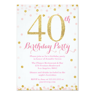 40th bday party invitations