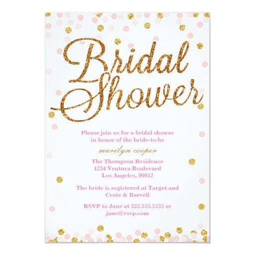Gold Bridal Shower Invitations is beautiful invitation layout