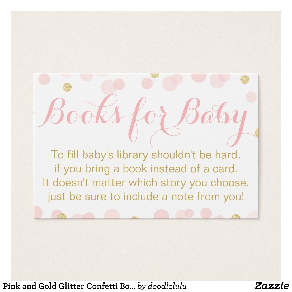 Pink and Gold Glitter Confetti Books For Baby