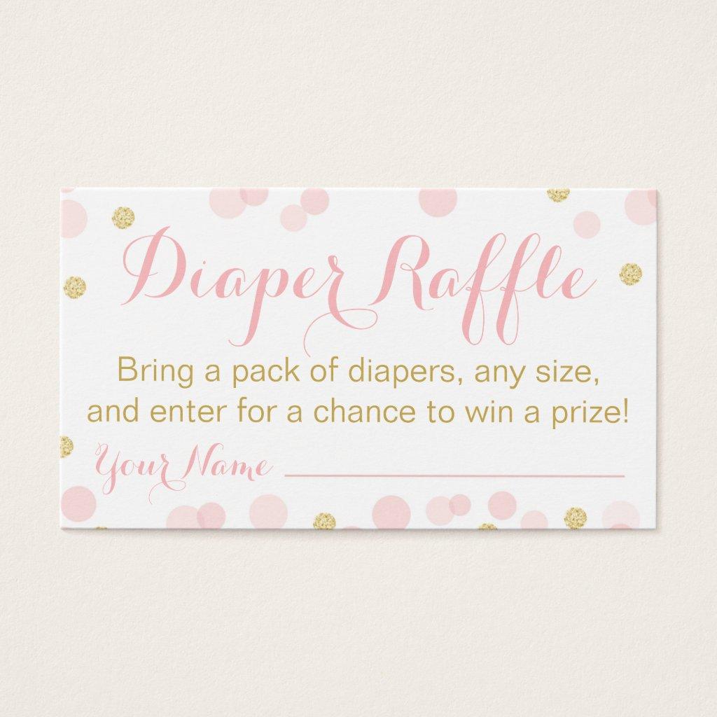 Pink and Gold Glitter Confetti Raffle
