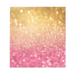 pink and gold glitter look note pads