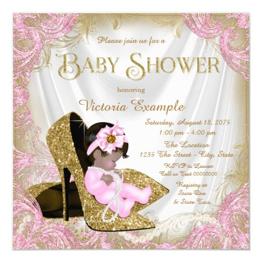 Glitter Baby Shower Invitations is the best ideas you have to choose for invitation example