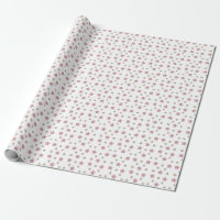 Pink and Gold Glitter Star Wrapping Paper