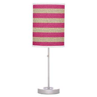 Pink and Gold Glitter Table Lamp