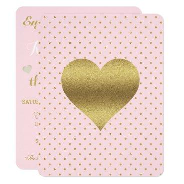 McTiffany Tiffany Aqua Pink And Gold Heart And Polka Dot Party Card