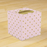 Pink And Gold Heart Polka Dot Party Favor Boxes