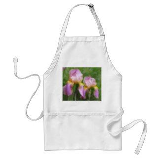 Pink And Gold Irises Adult Apron