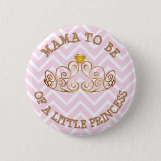 Pink and Gold ITS A GIRL Mom to Be Button