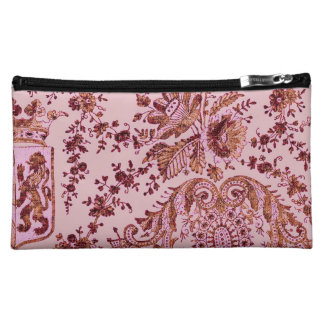 Pink And Gold Lace Cosmetic Bags