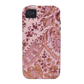Pink And Gold Lace iPhone 4/4S Cases