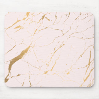 Pink and Gold Marble Designer Mouse Pad