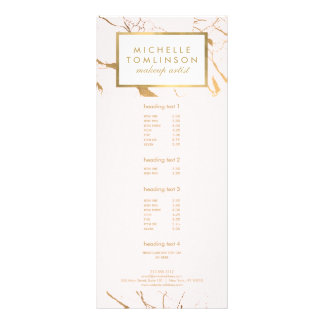Pink and Gold Marble Designer Rack Card