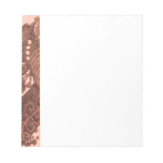 Pink And Gold Paisley Notepad