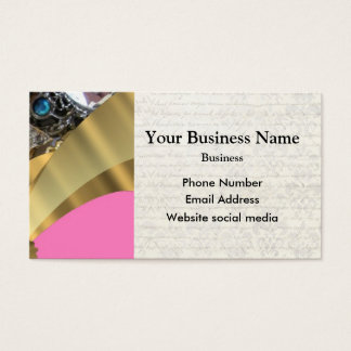 Pink and gold pattern business card