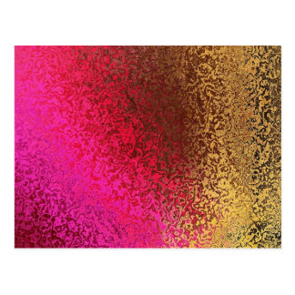 Pink And Gold Pattern Postcards