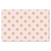 Pink and Gold Polka Dot Pattern Tissue Paper