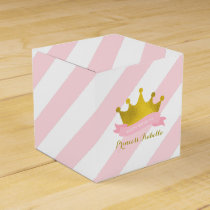 Pink and Gold Princess Birthday Party Favor Box