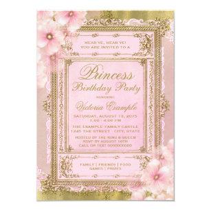 princess party invitations zazzle