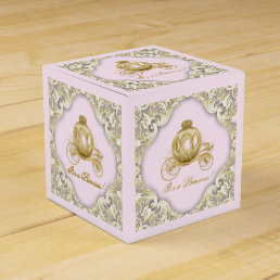 Pink and Gold Princess Favor Box