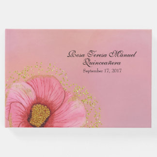 Pink and Gold Quinceañera Guest Book