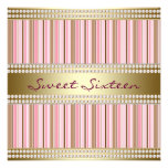Pink and Gold Sweet 16 Party Invitations