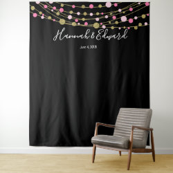 pink and gold wedding photo backdrop party banner
