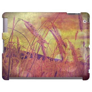 Pink And Gold Wheat iPad case