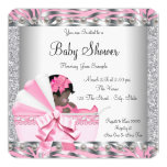 Pink and Gray Baby Shower Card