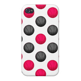 Pink and Gray Basketball Pattern Cover For iPhone 4