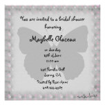 Pink and Gray Butterfly Bridal Shower Custom Invitations