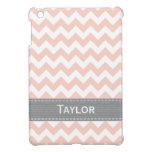 Pink and Gray Chevron iPad Mini Cover