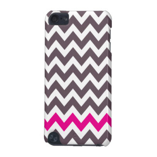 Pink and gray chevron iPod iPod Touch (5th Generation) Cover