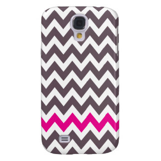 Pink and gray chevron samsung galaxy s4 cases