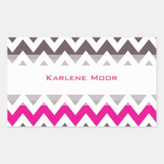 Pink and gray chevron sticker