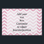 "Pink and gray chevron yard sign<br><div class=""desc"">Trendy popular  modern stylish chevron zigzag pattern in a pastel coral pink and white color. Personalize with your name or text to the templates or delete. For matching products visit the PATTERNZSTORE.</div>"