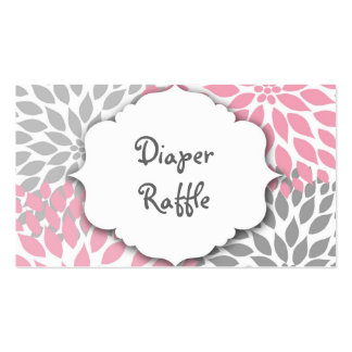 Pink and Gray Dahlia raffle ticket or insert card Double-Sided Standard Business Cards (Pack Of 100)