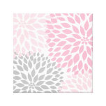 Pink and Gray Dahlia Square Wall Art