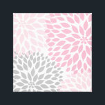 "Pink and Gray Dahlia Square Wall Art<br><div class=""desc"">Coordinating items can be found in our store.  Feel free to contact the designer for assistance.</div>"