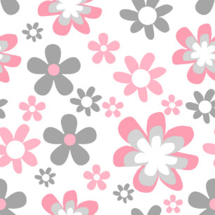 Daisy wrapping paper zazzle pink and gray daisies floral craft gift wrap mightylinksfo