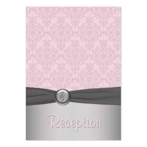 Pink and Gray Damask Ballet Enclosure Card