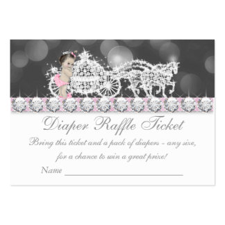Pink and Gray Diaper Raffle Ticket Large Business Cards (Pack Of 100)
