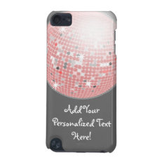 Pink And Gray Disco Ball Custom Ipod Touch Ipod Touch (5th Generation) Case at Zazzle