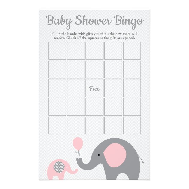photo relating to Baby Bingo Printable titled Purple and Grey Elephant Youngster Shower Bingo Recreation Card