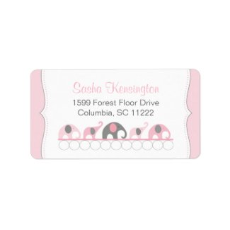 Pink and Gray Elephants Baby Girl Shower