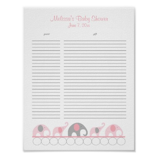 baby shower gift list