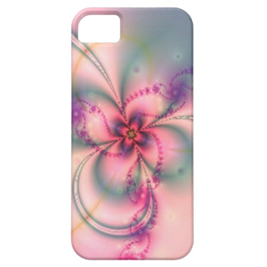 Pink And Gray Flower iPhone SE/5/5s Case