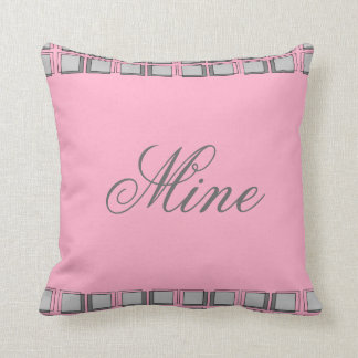 Pink and Gray Girly Modern Pillow Mine