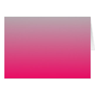 Pink and Gray Gradient Greeting Card